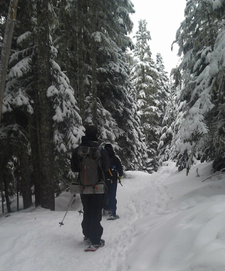 snowshoeing barlow butte